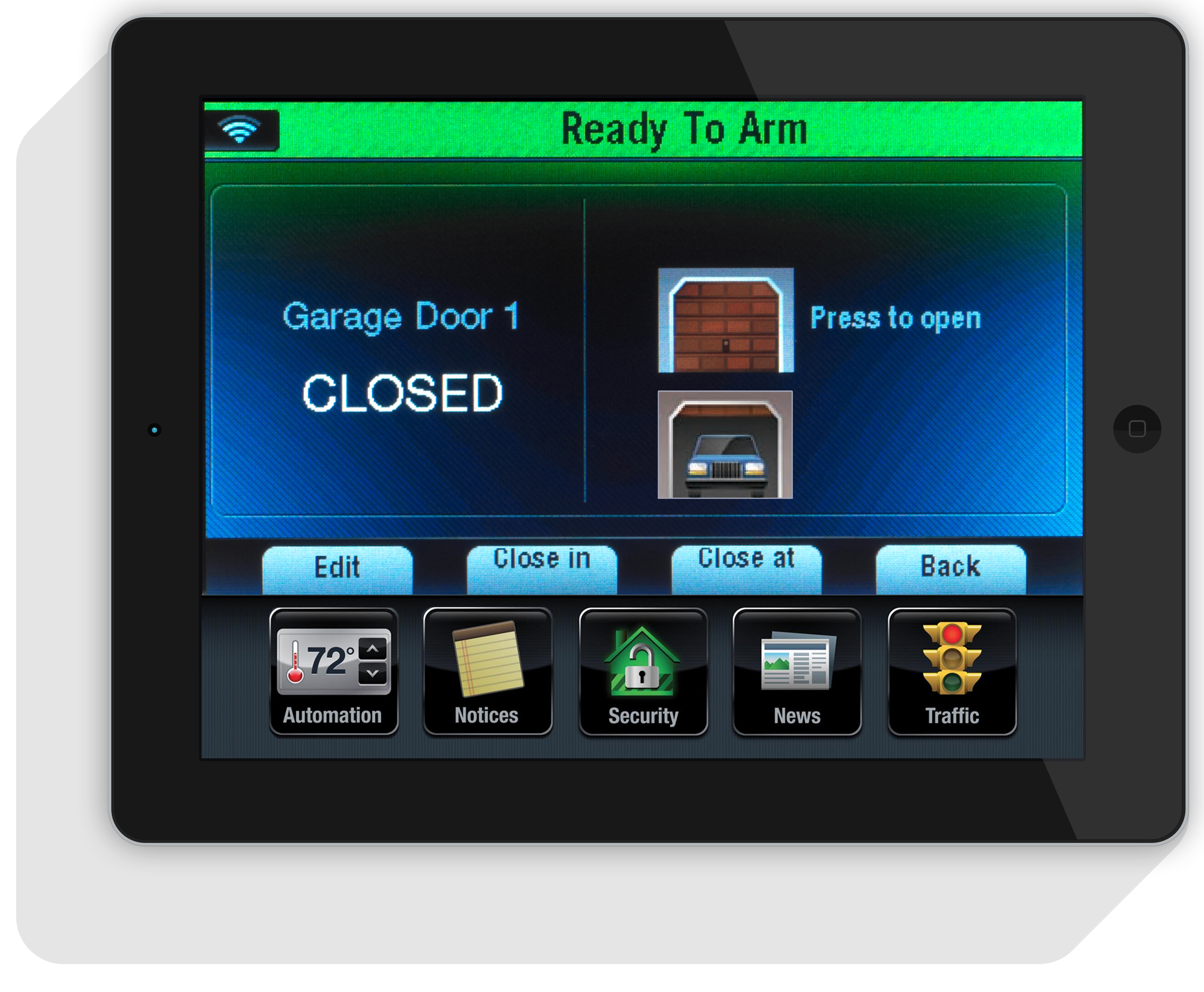 ... Of Your Bed On Your Tablet Or Smart Phone. On Vacation And Worried  About Your Home? Now You Can Know The Status Of Your Garage Door At All  Times.